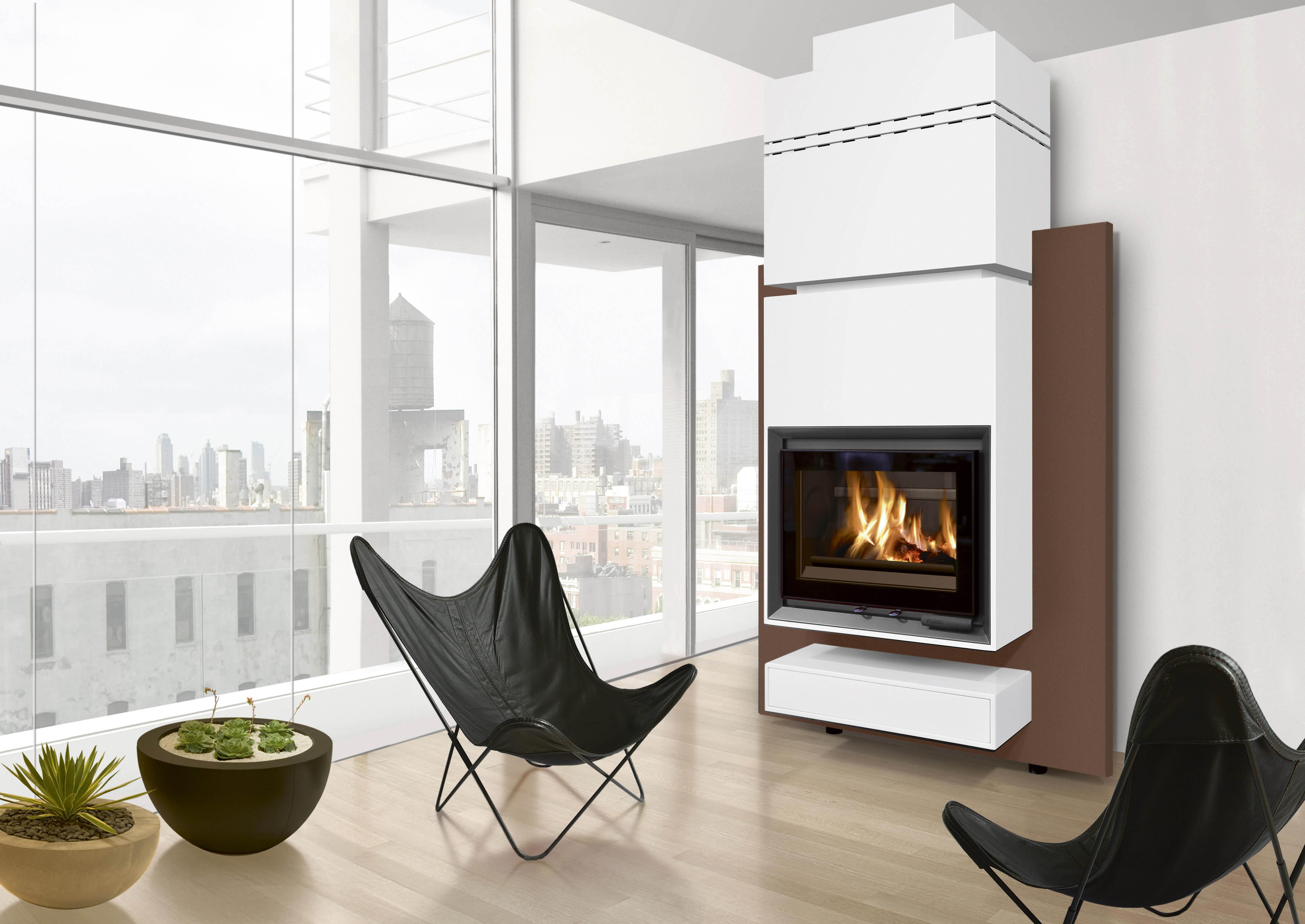 cheminee poele moderne. Black Bedroom Furniture Sets. Home Design Ideas