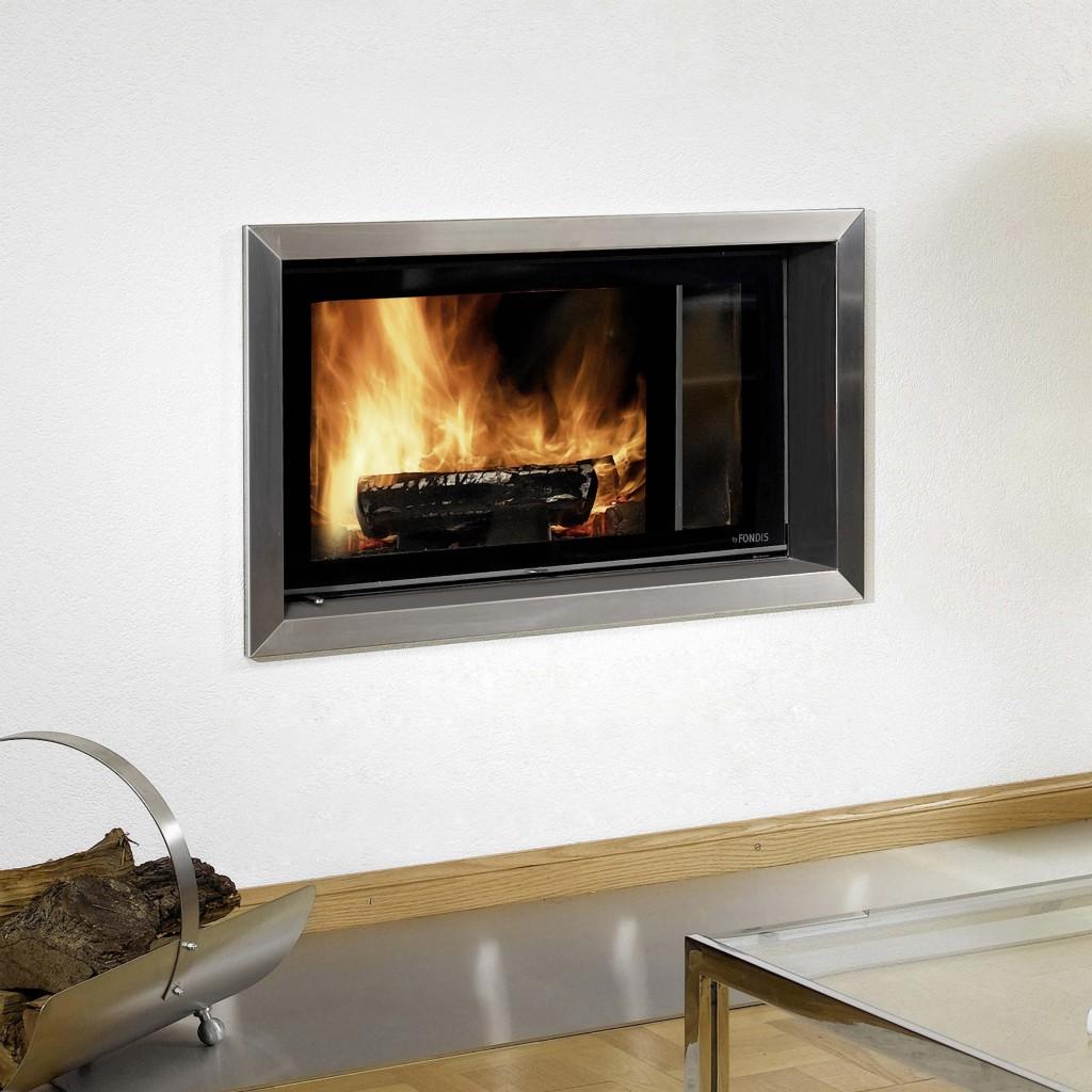 Habillage de cheminée Wodtke métallique coloré prisme inox brossé zoom