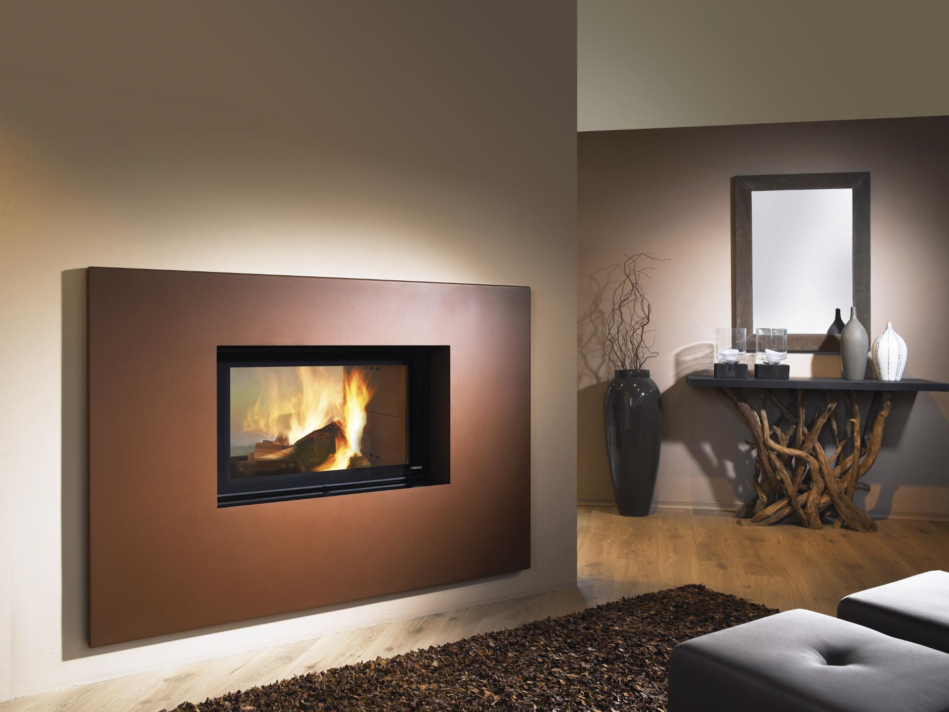 foyer bois insert de chemin e ulys 900 double face fondis. Black Bedroom Furniture Sets. Home Design Ideas